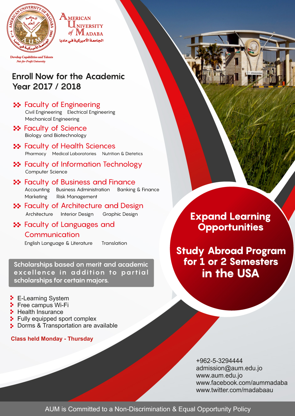Enroll Now At Amercian University Of Madaba AUM