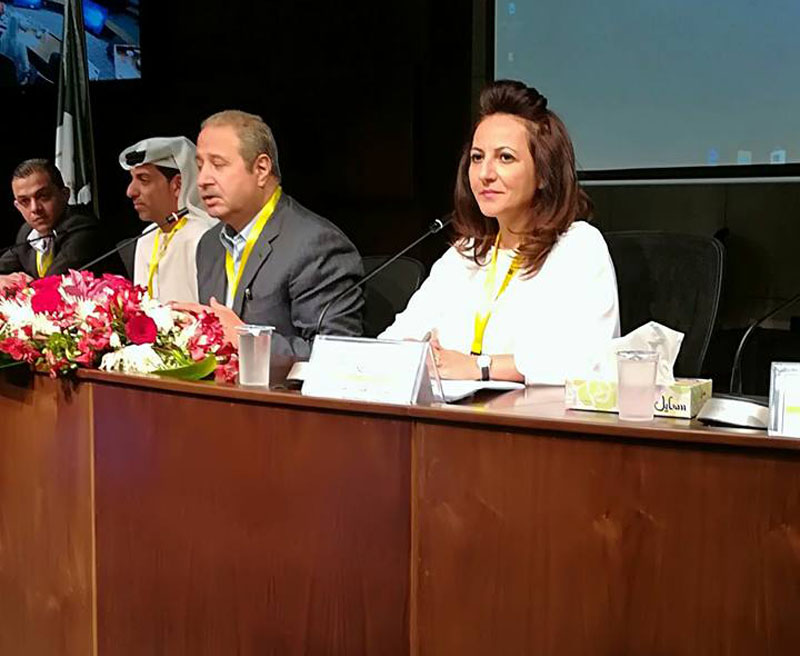 Dr. Hanan Madanat's participation in the educational conference held at the University of Petra