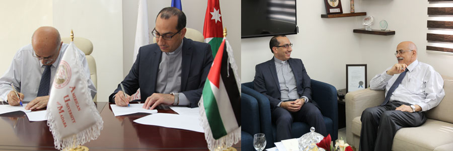 AUM signs a memorandum of understanding with the General Secretariat of Christian Educational Institutions in Palestine and Galilee