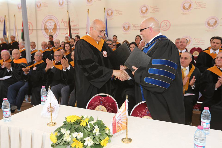The American University of Madaba signs memorandums for exchange students with American Universities