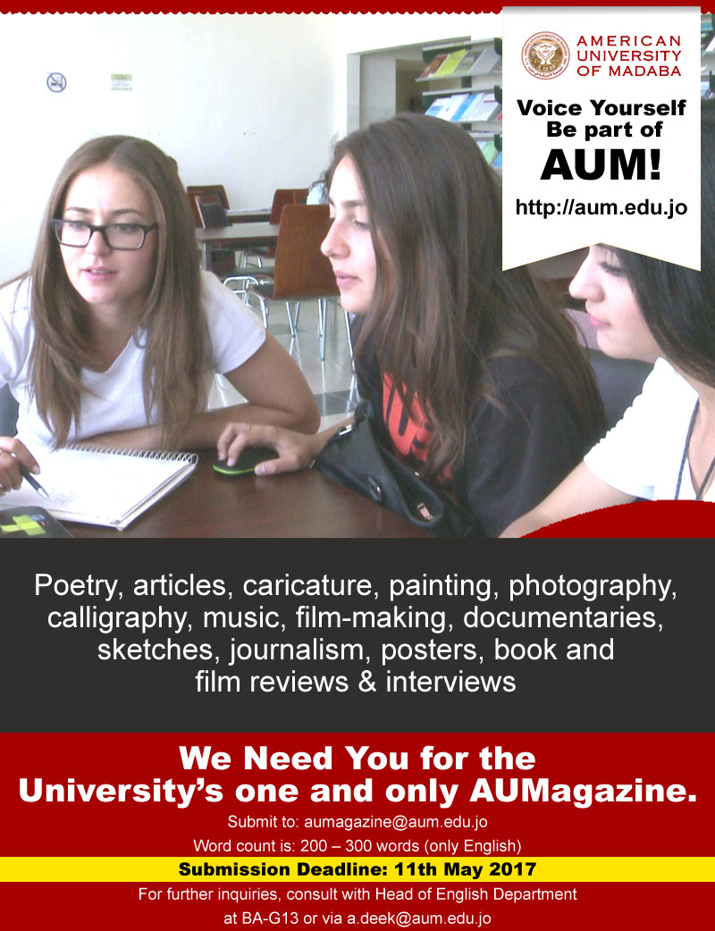 AUM Magazine - Submission is still Open till 11th May
