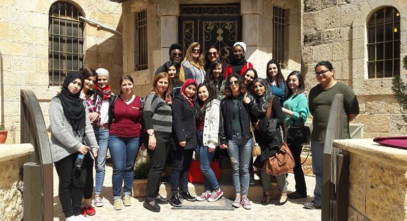 AUM English Class visits Latin Patriarchate High school for girls in Madaba