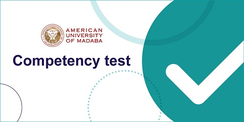Competency test for the Fall 2020-2021